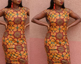 African Print Bodycon Dress by GoWoman