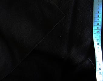 Drap de laine noir 90x62cm
