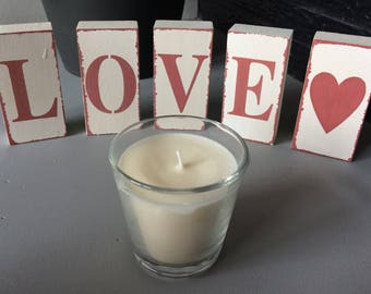 Candle crafted 120 grams, soy wax