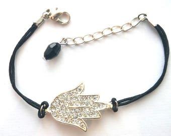 Silver plated Hamsa bracelet