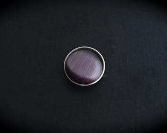Cabochon pressure 18mm for jewelry - plum cat's eye