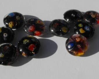 Perl.1930 set of 5 colorful glass beads