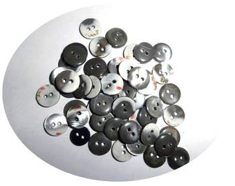 Set of 50 buttons color multi-color sewing notions