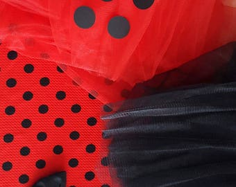 Kit creative making fabric red and black tulle