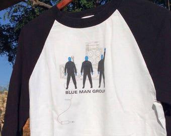 Vtg Blue Man Group Band T-Shirt, Graphic Band T-Shirt, Blue Man Group Band Shirt, Vintage Graphic T-Shirt, Old Band Tees, Vintage Band Tees