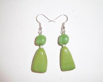 Earring, lime green