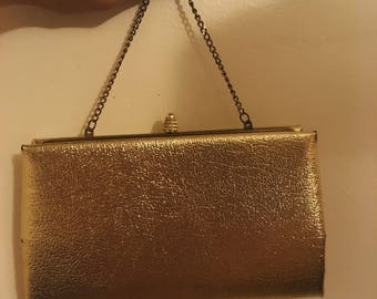 Gold Purse With Gold Chain