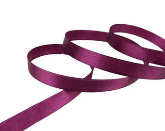 12mm Burgundy satin ribbon