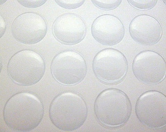 12/60/150 pcs resin cabochon 25 mm stickers round clear epoxy