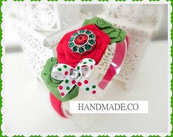 Christmas girls headband