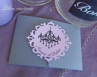 Baroque theme wedding menu