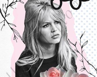 Brigitte bardot decorative poster