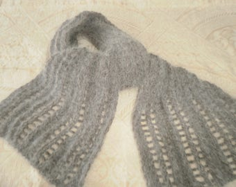beautiful scarf neck Angora taupe