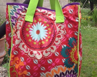 Multicolored cotton bag