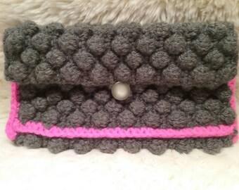Clutch bag hippie crochet