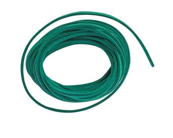 4 meter length of cord lace flat aspesct suede way teal suede 3 x 1, 5mm