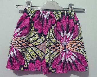 African girl skirt elastic waist wax 5-6-7 years
