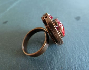 """Ruby"" Adjustable ring"