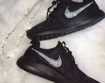 Swarovski® Nike Roshe Two Running Shoe Black Bling Nike