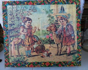 Antique Wooden 6 Sided Block Puzzle