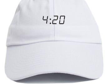 420  Dad Hat Adjustable Baseball Cap New - White