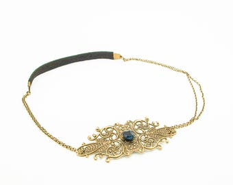 Headbands / head Bohemian Black Pearl Jewelry