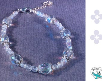 Bracelet - clear Crystal beads