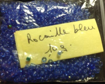 10G blue seed beads