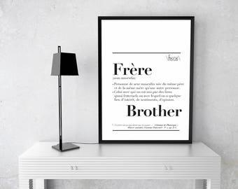 """Affiche définition """" Frère """""""