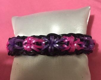 Rainbow Loom elastic flower bracelet