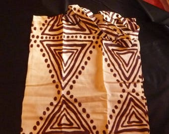 shopping tote bag fabric cotton ethnic pattern
