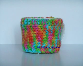 snood, scarf or multicolor cuff for mug
