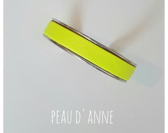 small neon yellow leather cuff