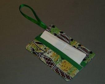 Green pattern aborigine tissue holder