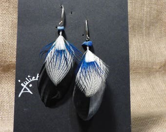 """Earrings """"feathers with silver hook"""