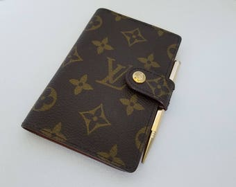 Louis Vuitton Vintage Monogram Mini Agenda Cover with Pencil