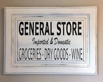 Farmhouse Shabby General Store Sign