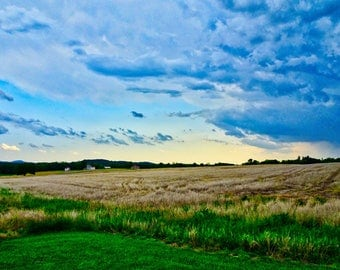 Storm brewing over the Monocacy battlefield Frederick, Maryland