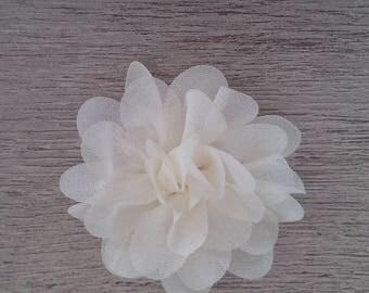 Pretty white organza fabric flower