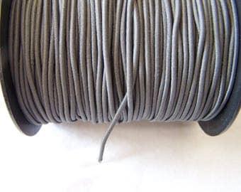 Elastic in hat, grey, 2 mm diameter