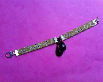 Bracelet liberty liberty mustard and black beads