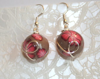 Ball earrings - different colors