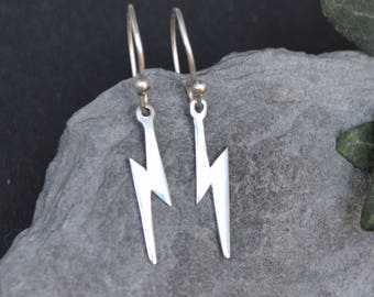 Earrings Silver 925/1000.. .the lightning