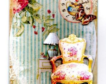 141 - Greeting card vintage furniture