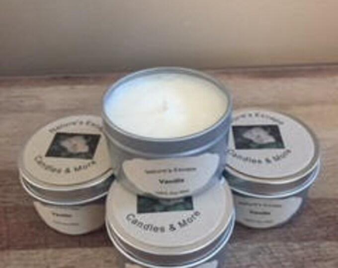 Vanilla Soy Wax 6 oz. Candle Tins