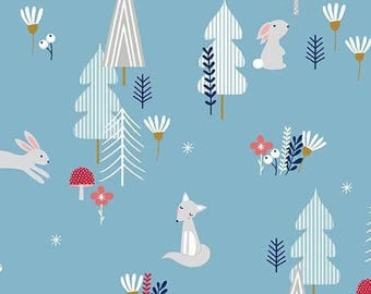 Fabric cotton collection Forest Talk Andover 25 x 110 cm