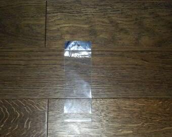 """x 100 OPP bags clear/Silver """"6x15cm"""""""