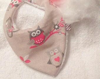 Bib bandana 0/6 month OWL and Christmas