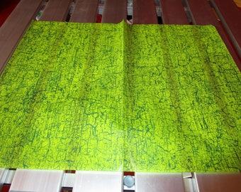 leaf green Crackle decopatch
