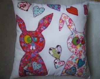 Marius the rabbit pillow pink